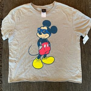 Disney Official Mickey Mouse Crop-Top